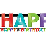 Age 21 Birthday Letter Banner - 2.2m