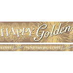 50th Golden Wedding Anniversary Banner - 2.7m
