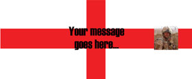 St Georges Flag Personalised Banner - 6ft x 2.5ft
