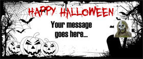 Halloween Custom Banner 6ft. x 2.5ft.