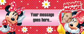 Minnie Mouse Personalised Banner - 6ft x 2.5ft