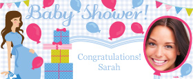 Baby Shower Boys Personalised Banner - 6ft x 2.5ft