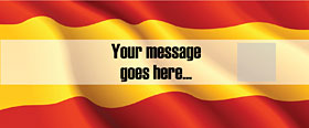 Spanish  Personalised Banner - 6ft x 2.5ft