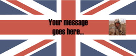 Great British Flag Personalised Banner - 6ft x 2.5ft