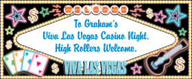 Las Vegas Personalised Banner - 6ft x 2.5ft