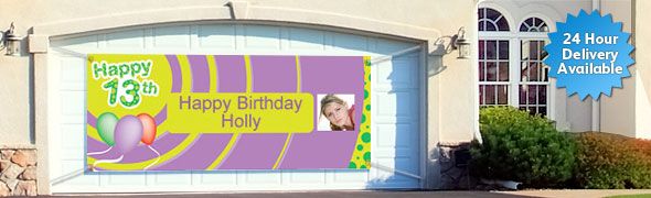 13th Birthday Personalised Banners