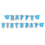 Blue Glam Letter Banner - 5.5ft