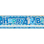 Happy 1st Birthday Blue Banner