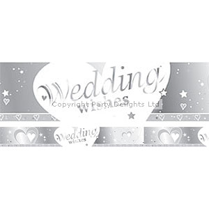 Loving Hearts Wedding Wishes Banner - 2.7m
