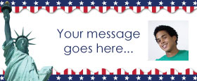 USA 4th July Custom Banner 6ft. x 2.5ft.