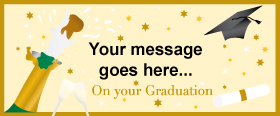 Graduation Personalised Banner - 6ft x 2.5ft