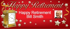 Retirement Personalised Banner - 6ft x 2.5ft
