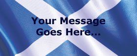 Scottish Flag Personalised Banner - 6ft x 2.5ft