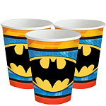 Batman Cups - 255ml Paper Party Cups