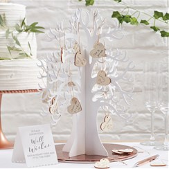 Beautiful Botanics Wooden Wishing Tree Guest Book