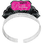 Black & Pink Glitter Party Tiaras