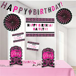 Black & Pink Personalisable Room Decorating Kit