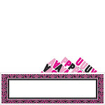 Black & Pink Personalisable Giant Sign Banner - 1.7m
