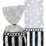 Black & White Cellophane Party Bags