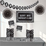 Black & White Personalisable Decorating Kit
