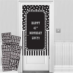 Black & White Personalisable Door Decorating Kit
