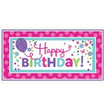 Pink & Teal Giant Party Sign - 1.5m