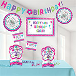 Pink & Teal Personalisable Room Decorating Kit