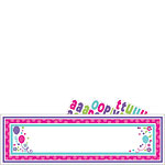 Pink & Teal Personalisable Giant Sign Banner - 1.7m