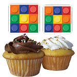 Block Party Cupcake Toppers
