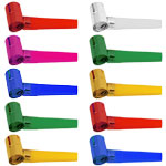 Multi Coloured Noisemaker Blowouts - Foil - Value Pack