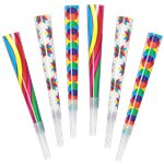 Multicoloured Party Horns - Party Blowers