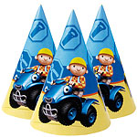 Bob The Builder Party Cone Hats