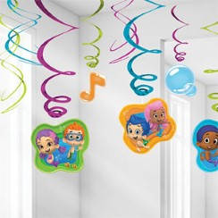 Bubble Guppies Hanging Decorations - 60cm Hanging Swirls