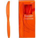 Orange Plastic Knives