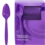 Purple Plastic Spoons