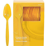 Yellow Plastic Spoons