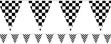 Checkered Flag Bunting - Plastic 3.65m