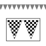 Plastic Checkered Flag Banner - 12ft