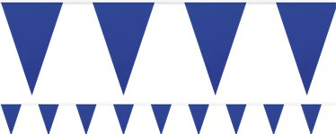 Giant Blue Plastic Bunting - 10m