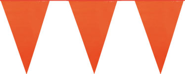 Giant Orange Plastic Bunting - 10m
