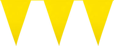 Giant Yellow Plastic Bunting - 10m