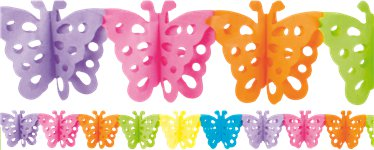 Butterfly Paper Garland Decoration - 4m