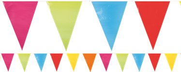 Giant Multi-coloured Bunting - Plastic 10m