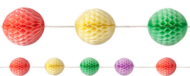 Multi Coloured Honeycomb Garland Decoration - 5m