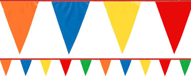 Multi Coloured Plastic Bunting - 36m