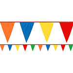 Multi Coloured Giant Plastic Bunting - 36m
