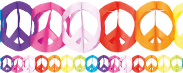 Peace Sign Paper Garland - 4m