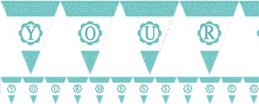 Personalise It Paper Pennant Banner - Robins Egg Blue - Paper 7.9m