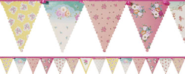 Truly Scrumptious Floral Paper Bunting - 4m