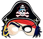Pirate Party Pirate Mask with Hat
